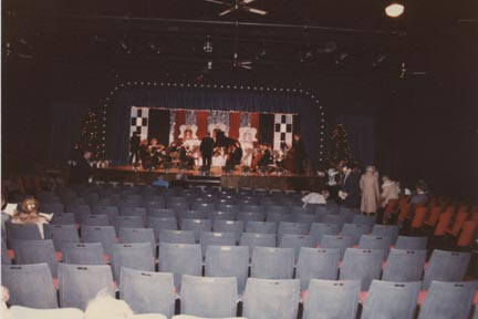 1986 seats and stage